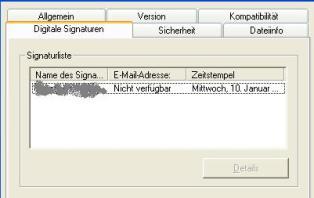 Zertifikatsanzeige